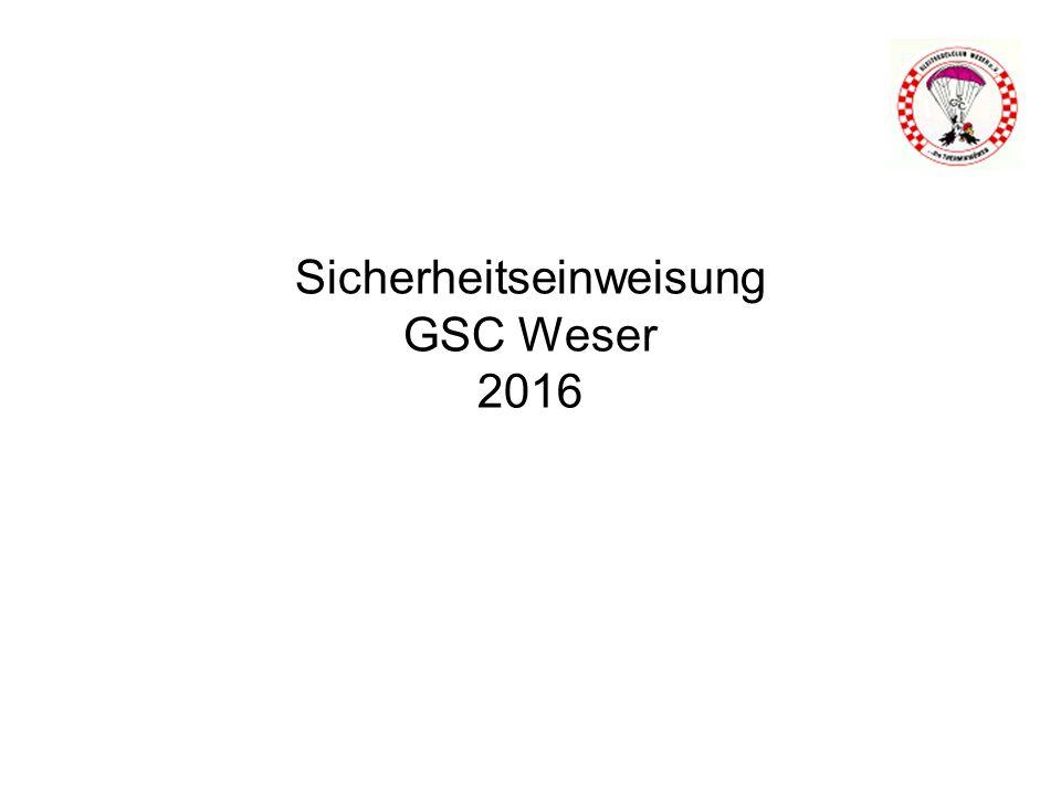 Sicherheitseinweisung GSC Weser 2016