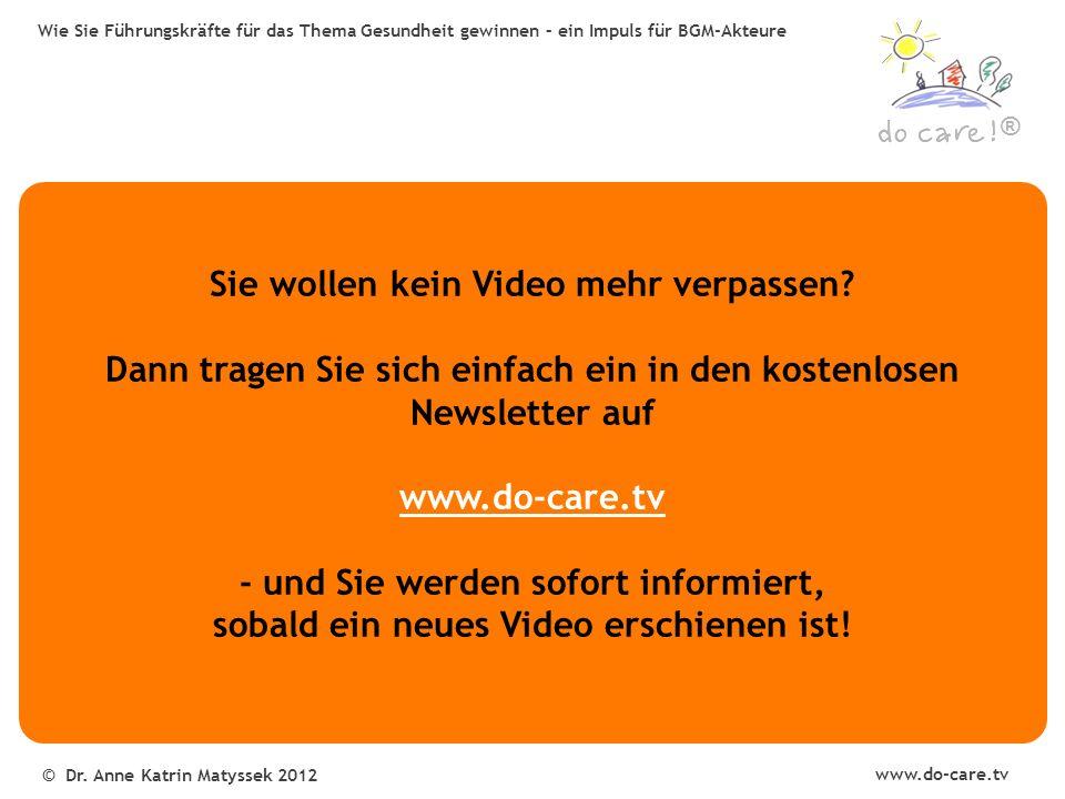® www.do-care.tv © Dr.