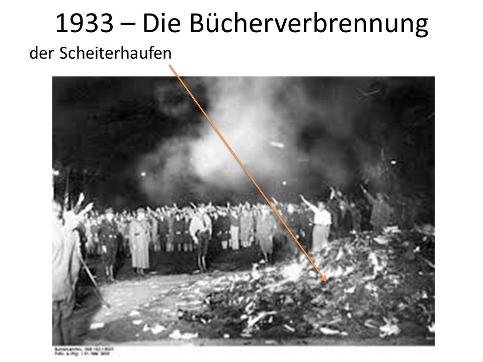 1933 – Die Bücherverbrennung der Scheiterhaufen