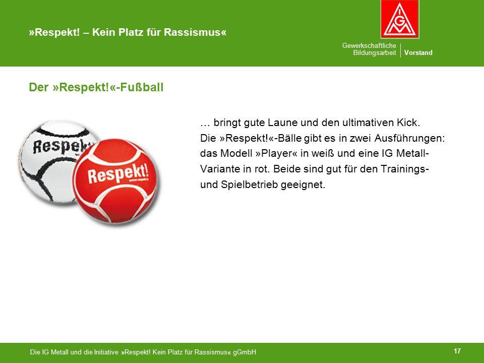 Gewerkschaftliche BildungsarbeitVorstand »Respekt.