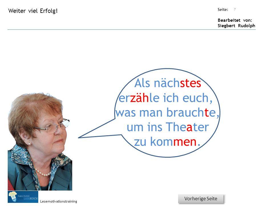 Übungsart: Seite: Bearbeitet von: Siegbert Rudolph Lesemotivationstraining 6 Welcher Artikel? Bitte auf den richtigen Artikel klicken! Nächste Seite V