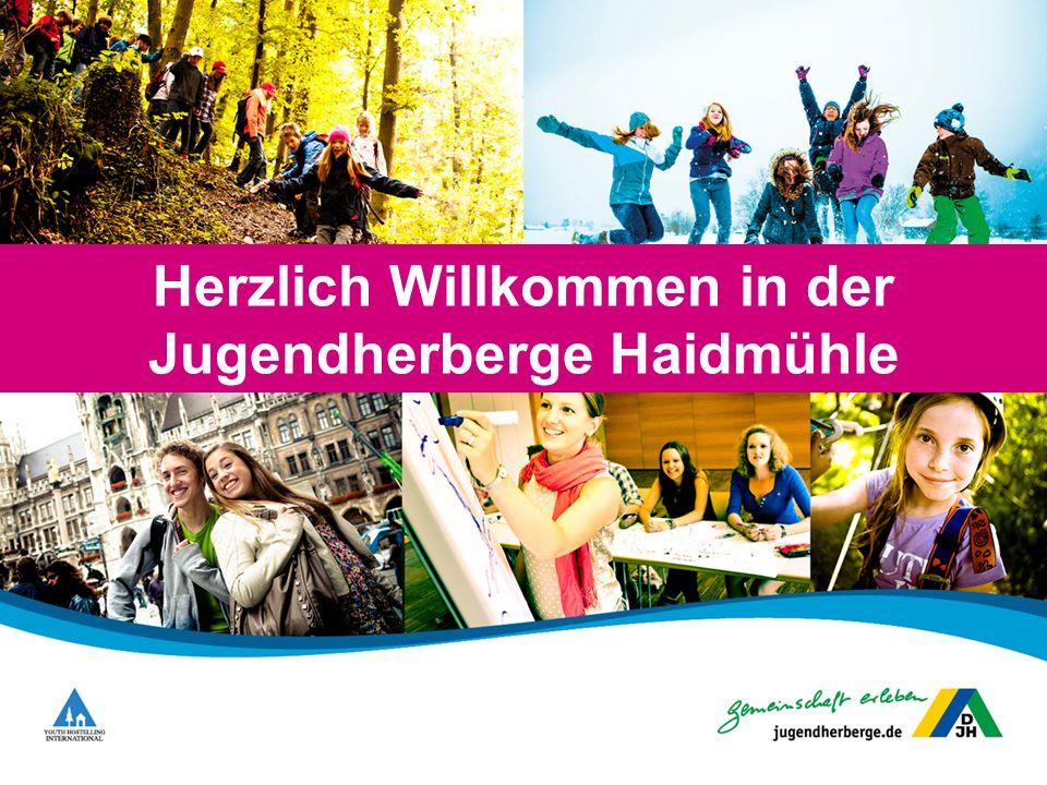 Lage der Jugendherberge Bayerns östlichste Jugendherberge mitten im Dreiländereck Deutschland, Tschechien und Österreich.