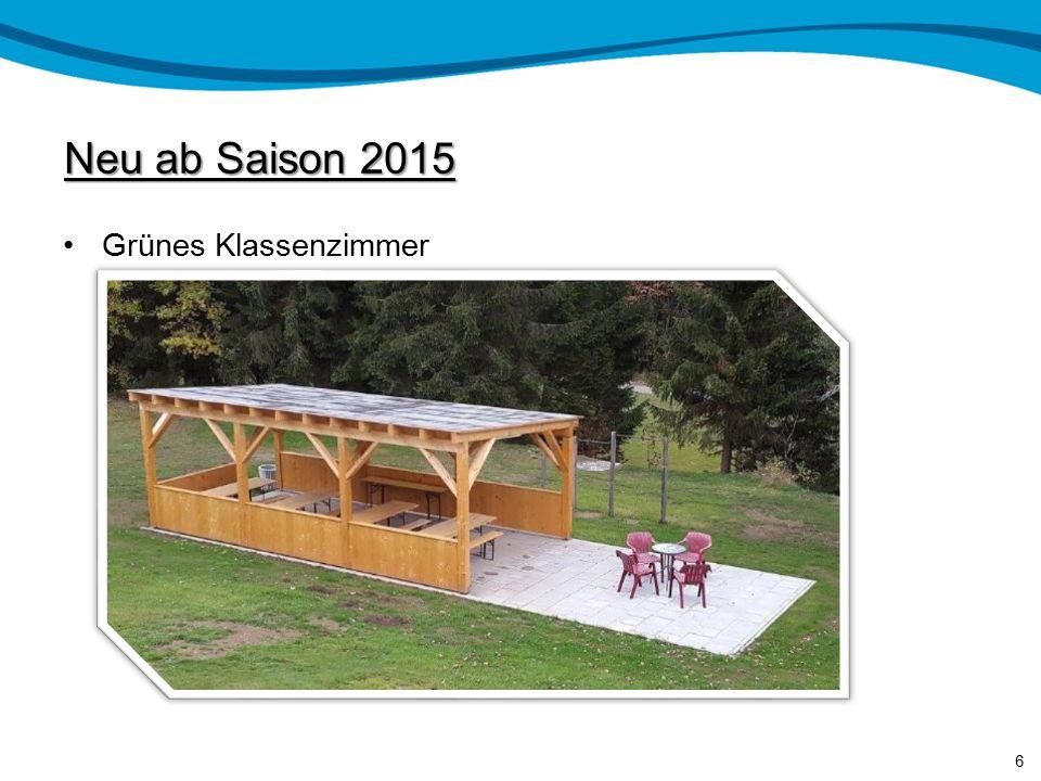 Neu ab Saison 2015 Grünes Klassenzimmer 6