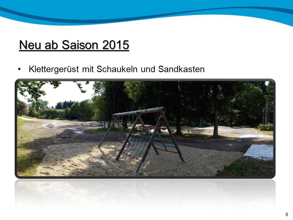 Neu ab Saison 2015 Klettergerüst mit Schaukeln und Sandkasten 8