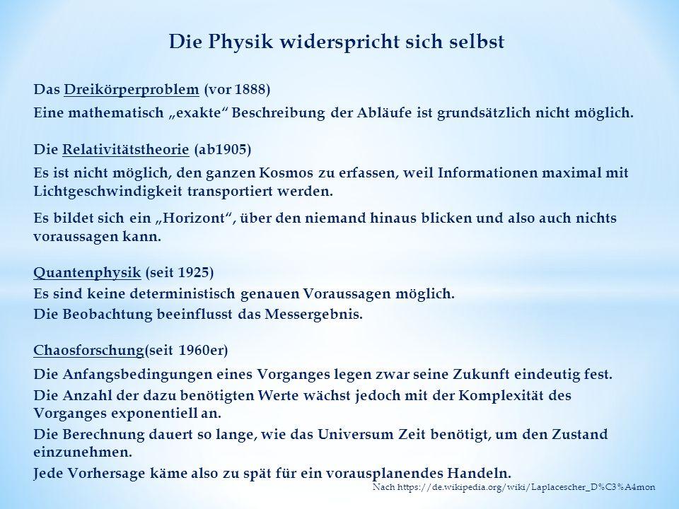 """Das Dreikörperproblem (vor 1888) Eine mathematisch """"exakte Beschreibung der Abläufe ist grundsätzlich nicht möglich."""