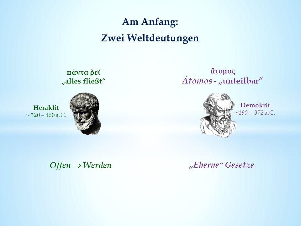 Am Anfang: Zwei Weltdeutungen Heraklit ~ 520 – 460 a.C.