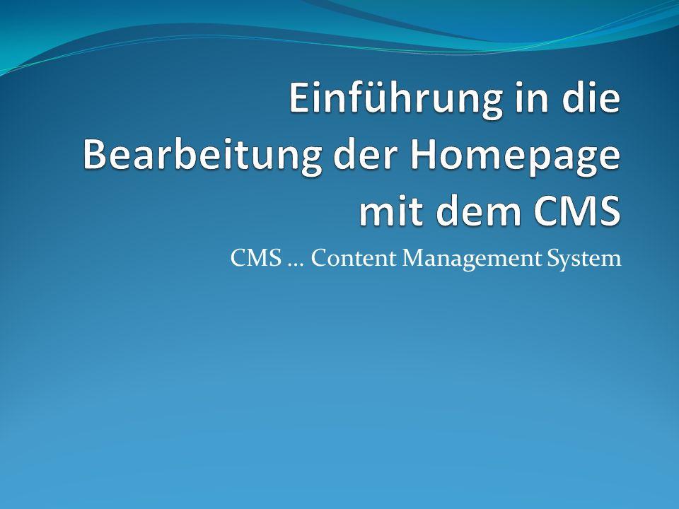 CMS … Content Management System