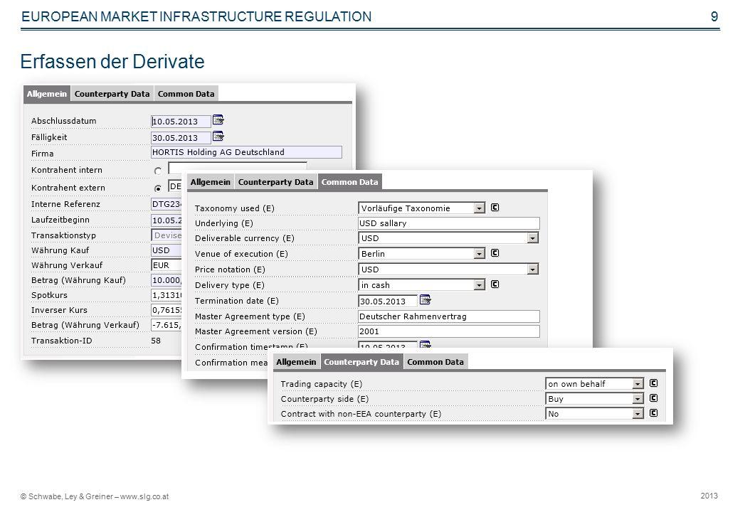 © Schwabe, Ley & Greiner – www.slg.co.at 2013 EUROPEAN MARKET INFRASTRUCTURE REGULATION 10 Abrufen von Berichten