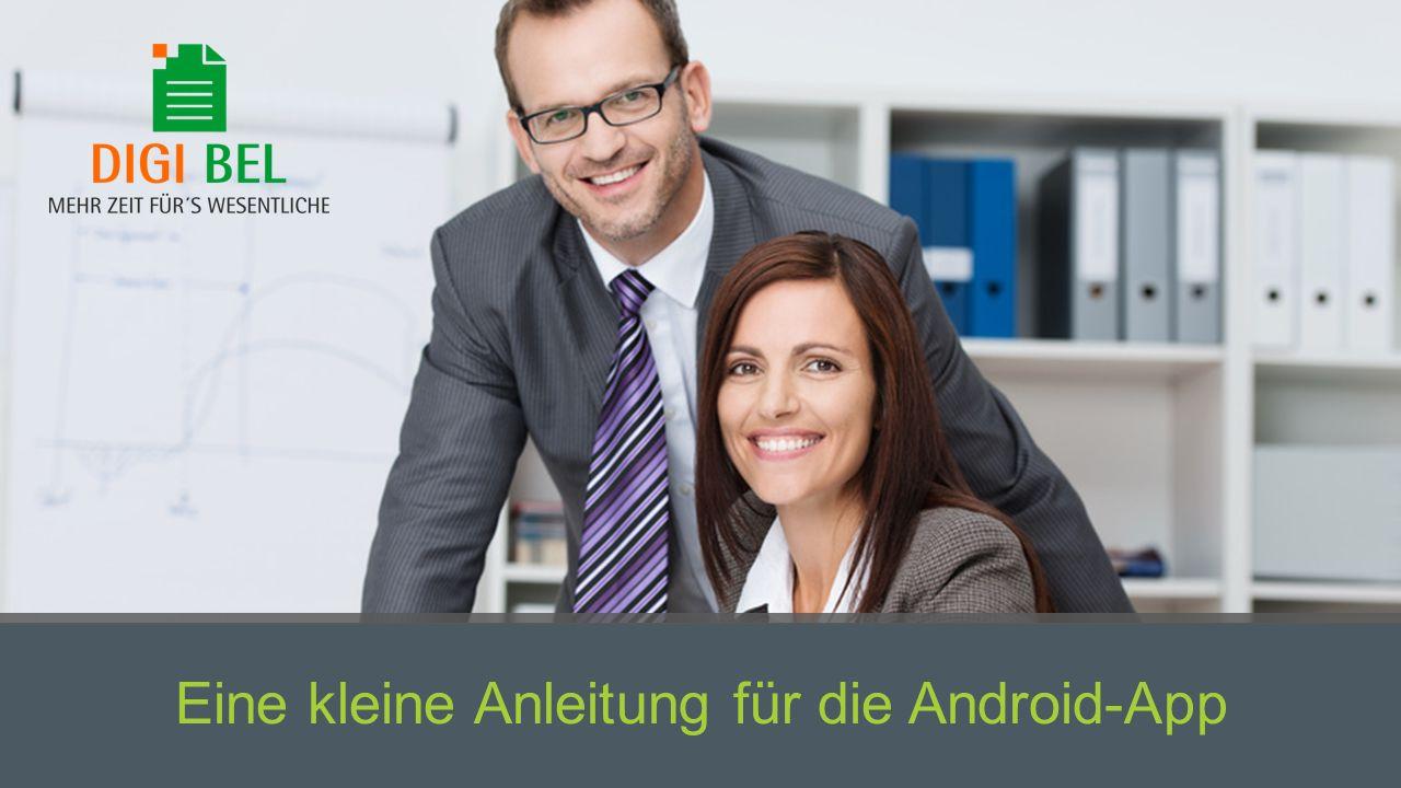 Eine kleine Anleitung für die Android-App