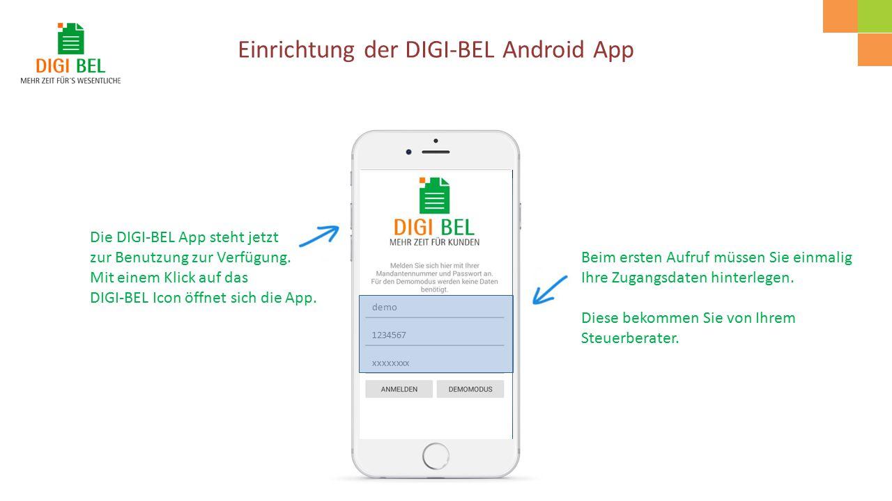 Die DIGI-BEL App steht jetzt zur Benutzung zur Verfügung.