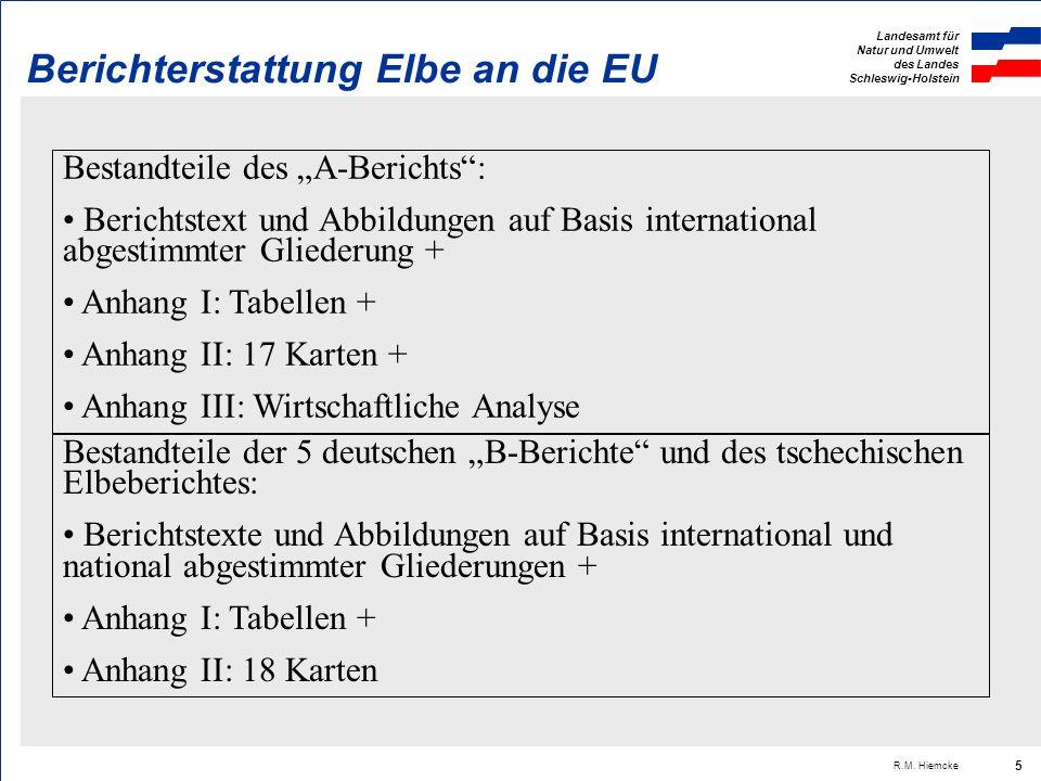 Landesamt für Natur und Umwelt des Landes Schleswig-Holstein R.M. Hiemcke 16