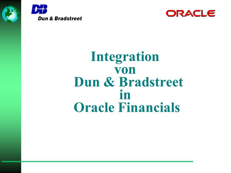 Integration von Dun & Bradstreet in Oracle Financials