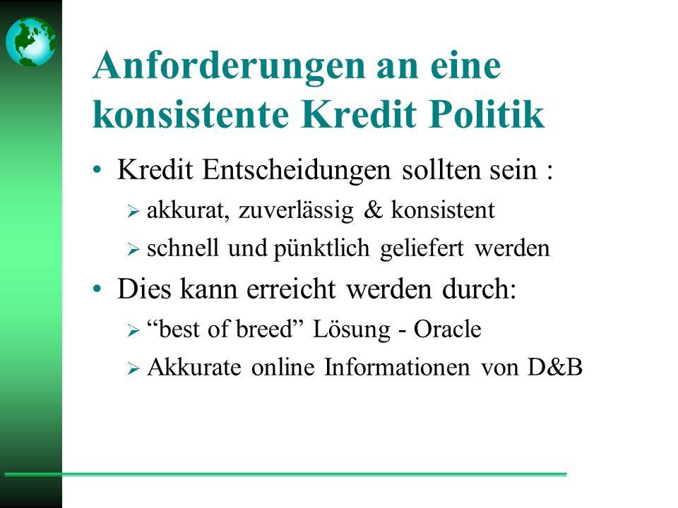 2.3. 4. Kunden- und Lieferanten- Stammdaten Match D&B Datenbank D-U-N-S Nr.
