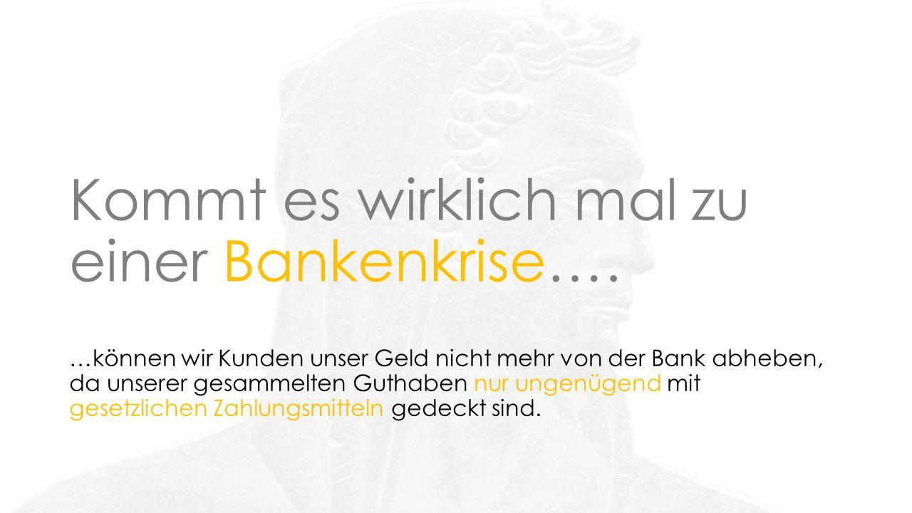 Kommt es wirklich mal zu einer Bankenkrise….