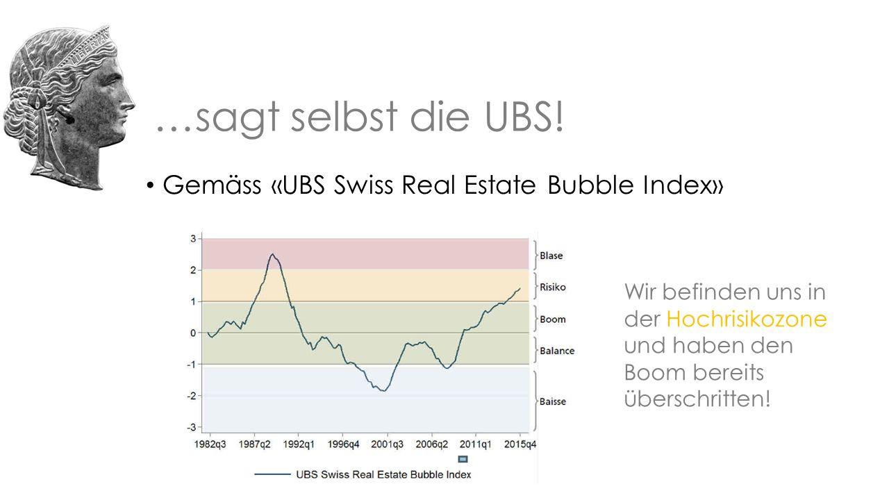 …sagt selbst die UBS.