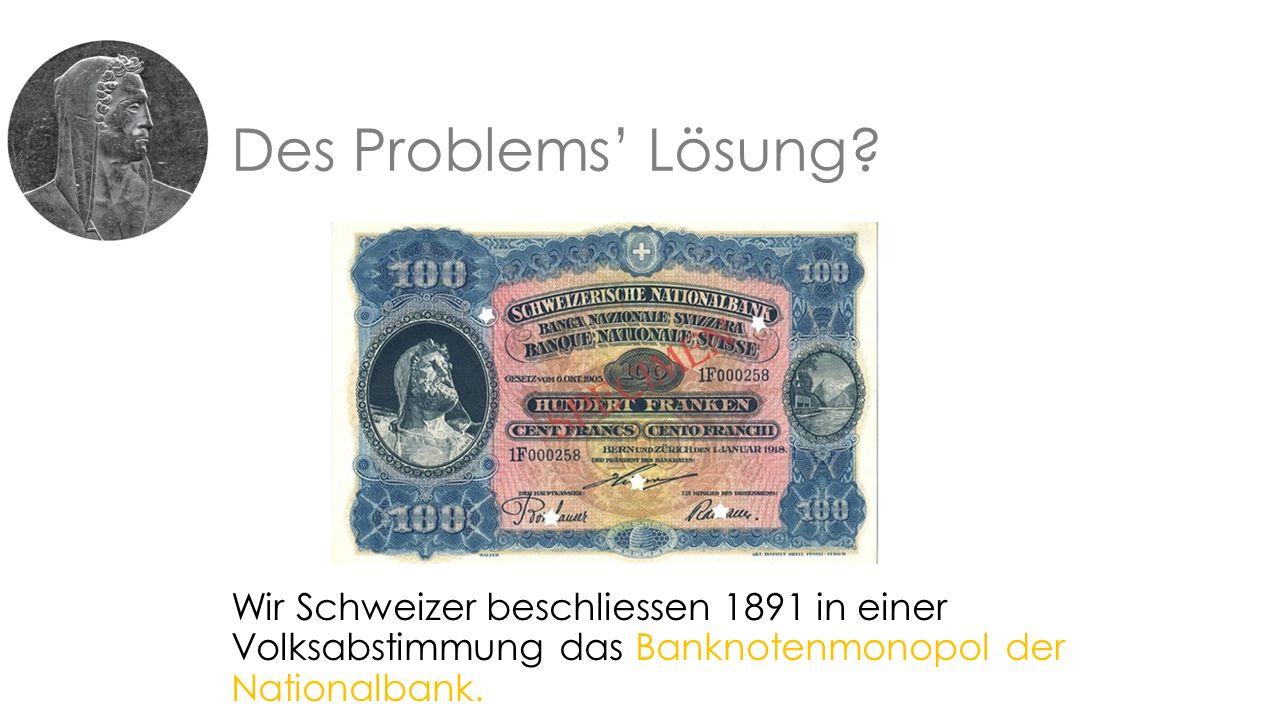 Des Problems' Lösung.