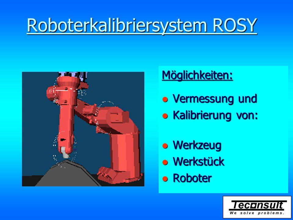 Roboterkalibriersystem ROSY Mittlere Genauigkeit in der Ebene