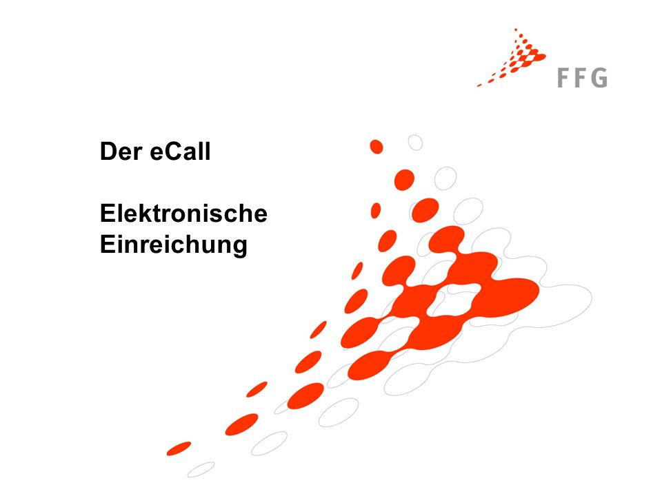 Der eCall Elektronische Einreichung