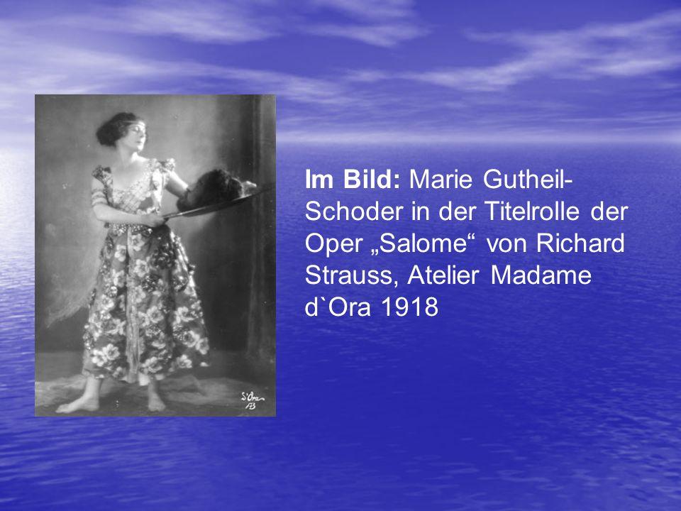 """Im Bild: Marie Gutheil- Schoder in der Titelrolle der Oper """"Salome"""" von Richard Strauss, Atelier Madame d`Ora 1918"""