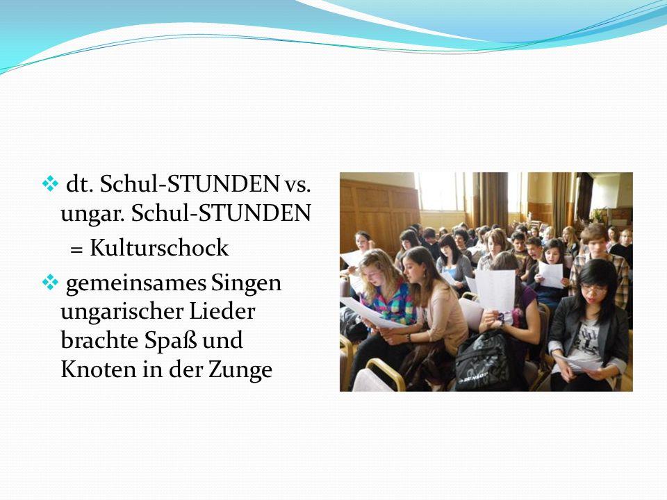  dt. Schul-STUNDEN vs. ungar.