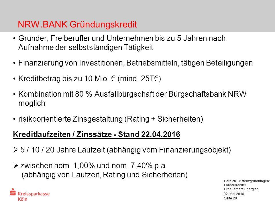 KfW-Unternehmerkapital – ERP Kapital für Gründung 02.