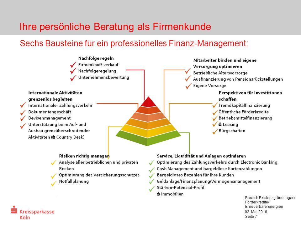 Ihre persönliche Beratung als Firmenkunde 02.