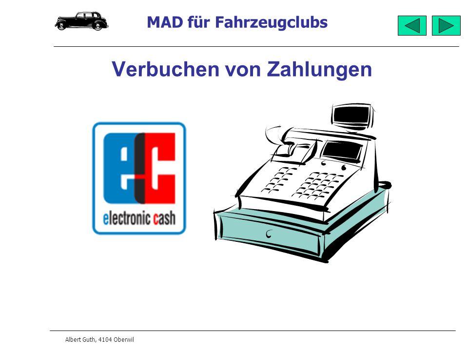 MAD für Fahrzeugclubs Albert Guth, 4104 Oberwil Korrespondenz Sprachabhängig