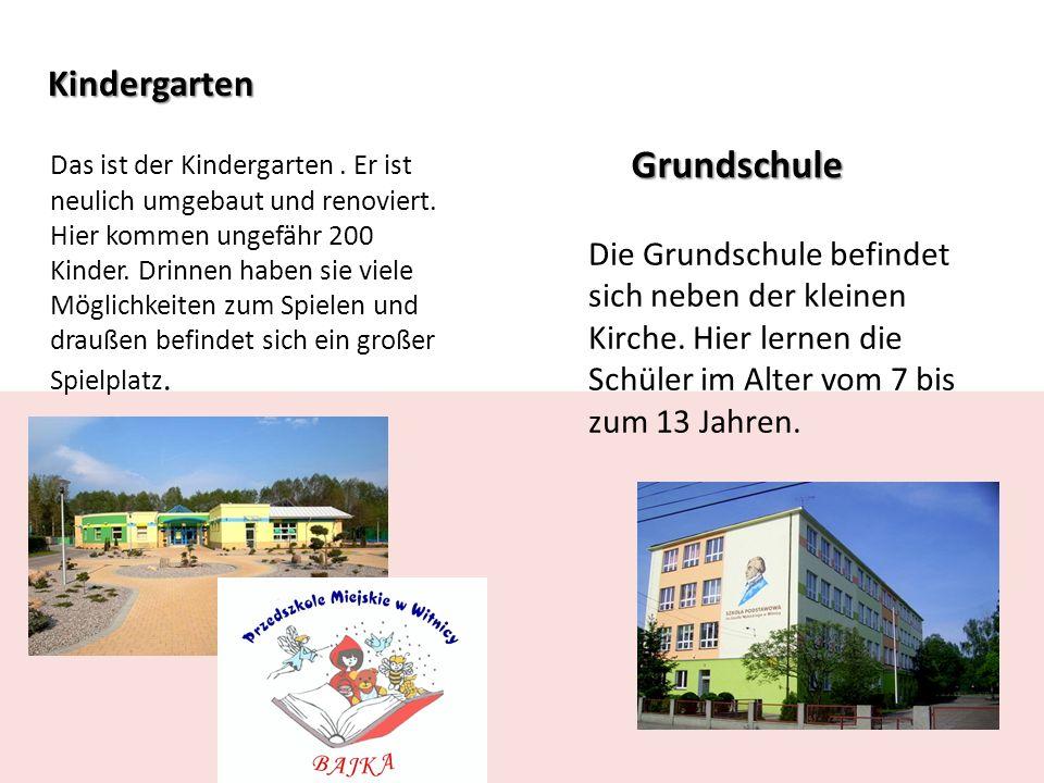 Kindergarten Das ist der Kindergarten. Er ist neulich umgebaut und renoviert.
