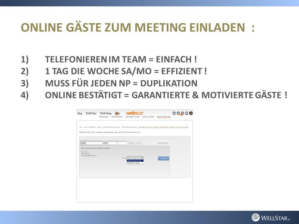 ONLINE GÄSTE ZUM MEETING EINLADEN : 1)TELEFONIEREN IM TEAM = EINFACH .