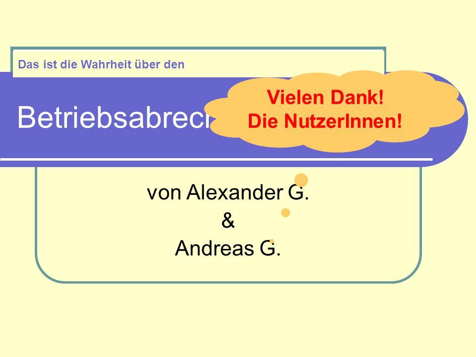 Betriebsabrechnungsbogen von Alexander G. & Andreas G.