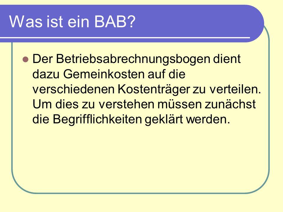Was ist ein BAB.