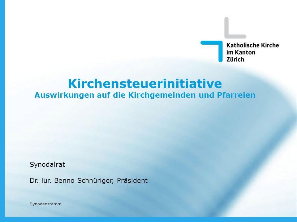Kirchensteuerinitiative Auswirkungen auf die Kirchgemeinden und Pfarreien Synodalrat Dr.