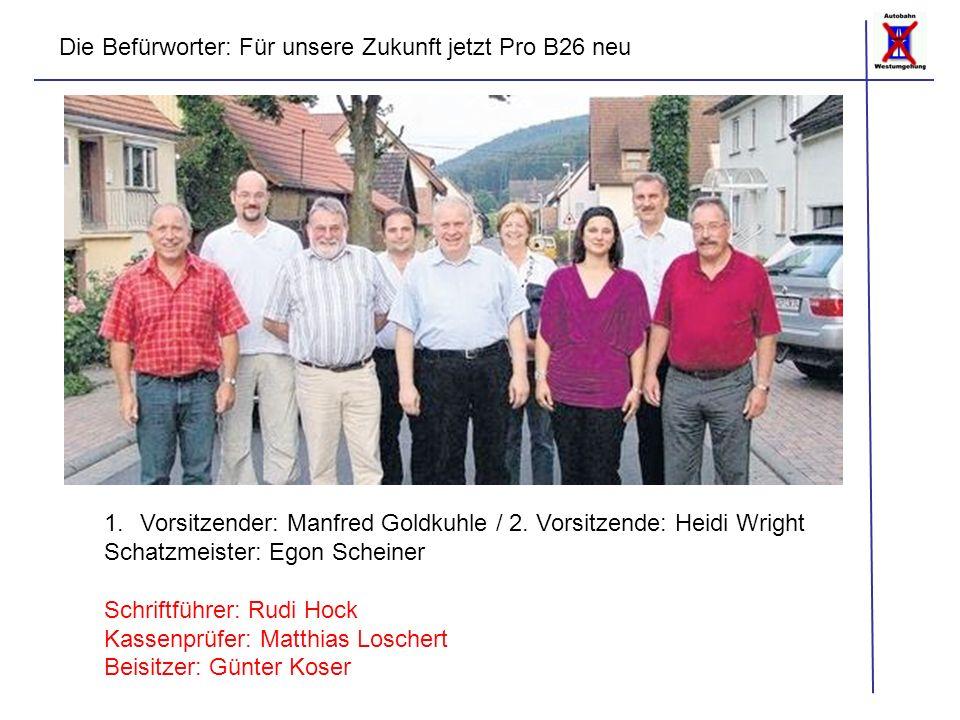 1.Vorsitzender: Manfred Goldkuhle / 2.