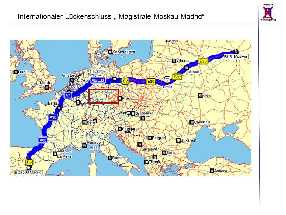 """Internationaler Lückenschluss """" Magistrale Moskau Madrid"""""""