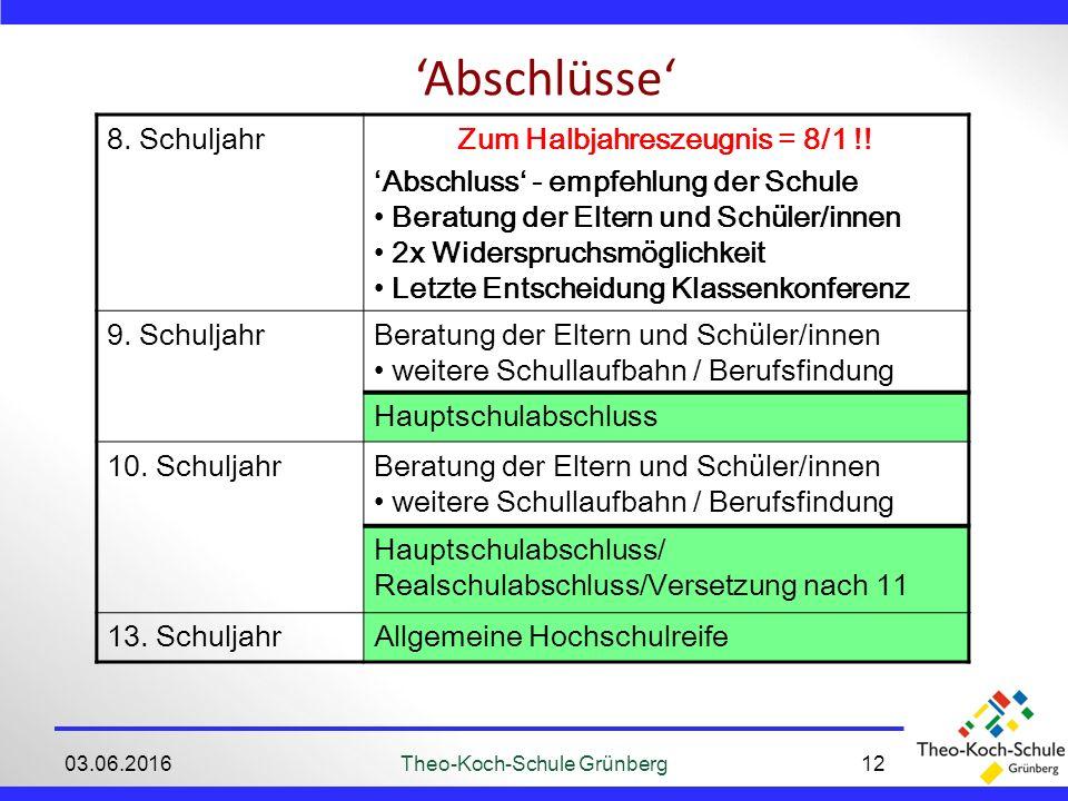 'Abschlüsse' 03.06.2016Theo-Koch-Schule Grünberg12 8.