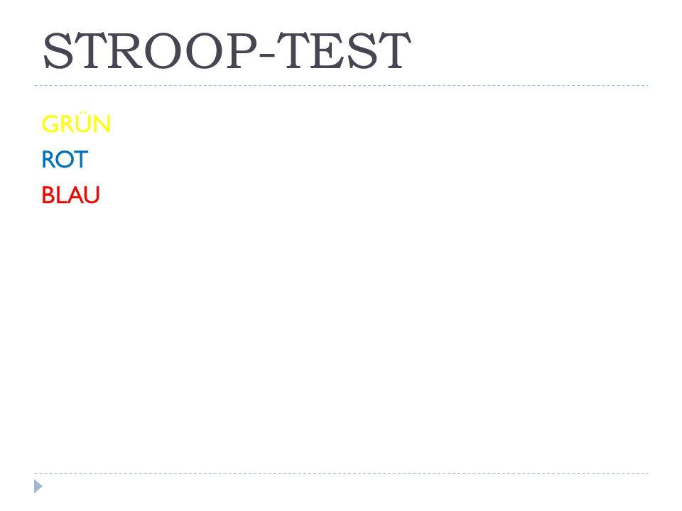 STROOP-TEST GRÜN ROT BLAU