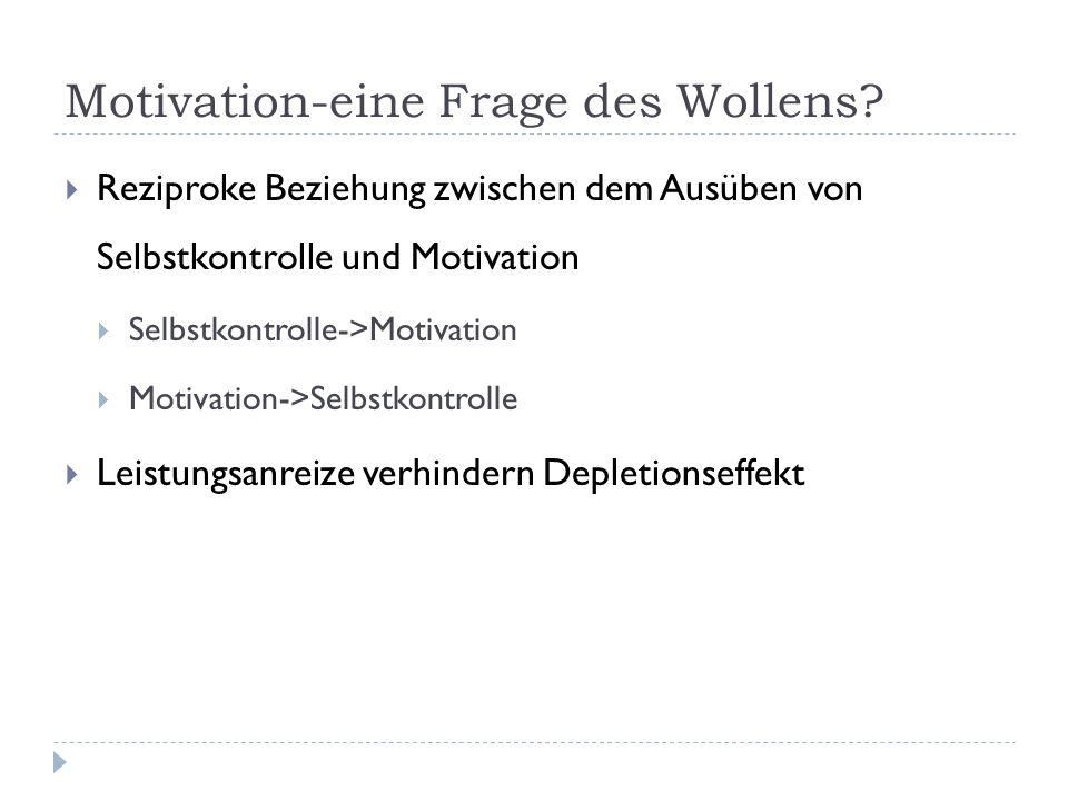 Motivation-eine Frage des Wollens.