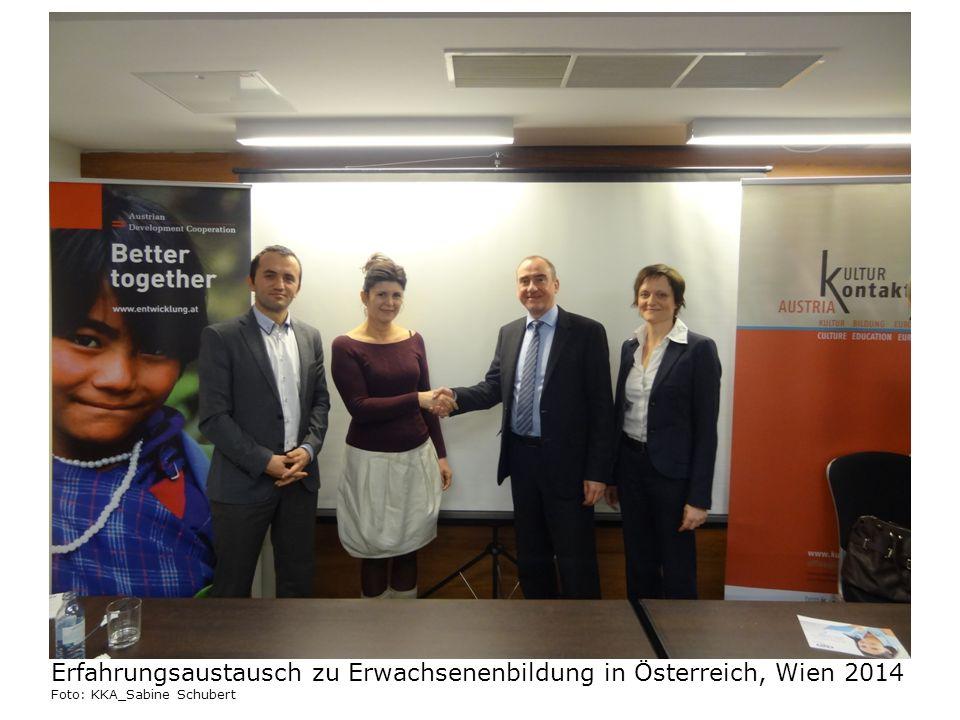 Erfahrungsaustausch zu Erwachsenenbildung in Österreich, Wien 2014 Foto: KKA_Sabine Schubert