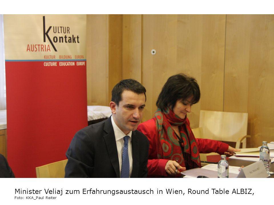 Minister Veliaj zum Erfahrungsaustausch in Wien, Round Table ALBIZ, Foto: KKA_Paul Reiter