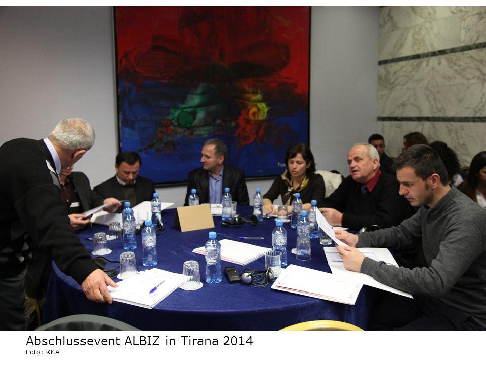 Abschlussevent ALBIZ in Tirana 2014 Foto: KKA