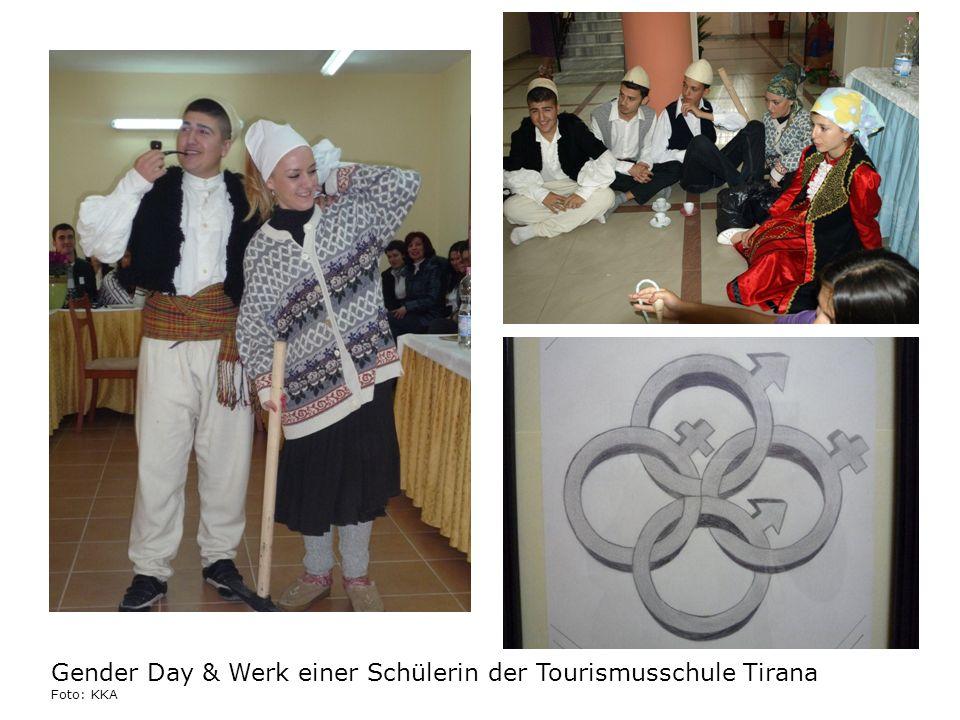 Gender Day & Werk einer Schülerin der Tourismusschule Tirana Foto: KKA
