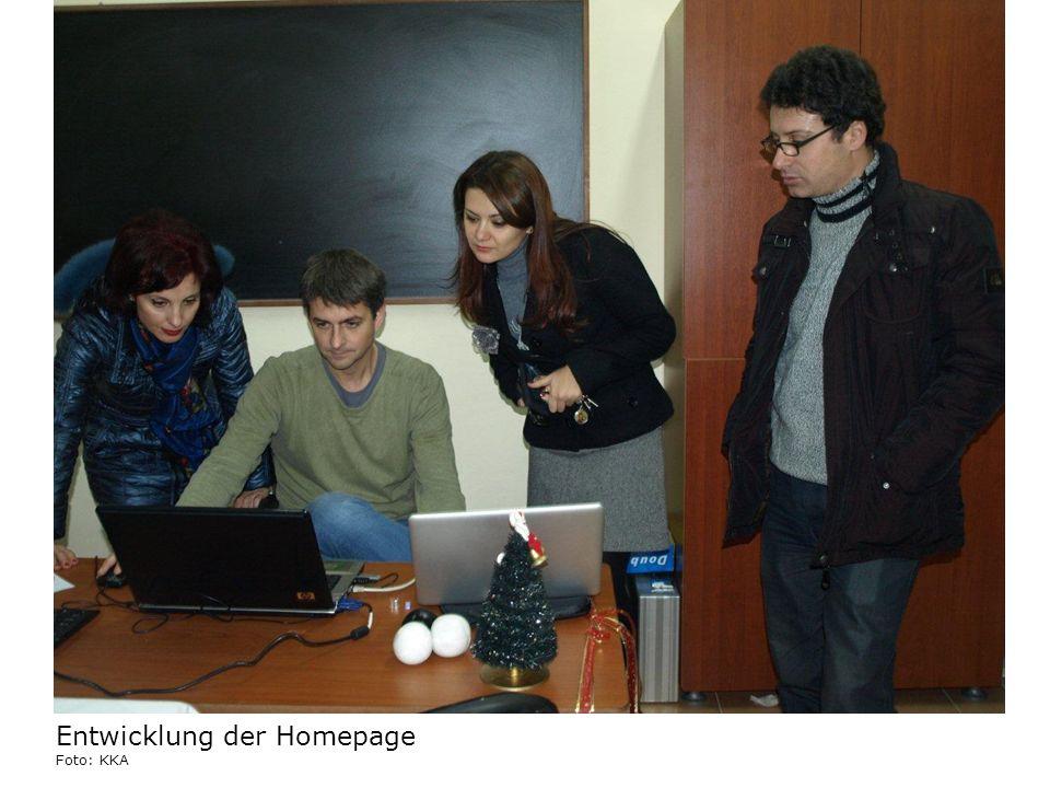 Entwicklung der Homepage Foto: KKA