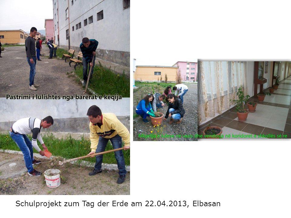 Schulprojekt zum Tag der Erde am 22.04.2013, Elbasan