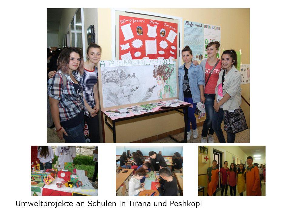 Umweltprojekte an Schulen in Tirana und Peshkopi