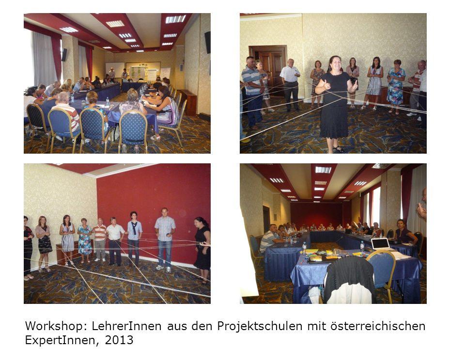 Workshop: LehrerInnen aus den Projektschulen mit österreichischen ExpertInnen, 2013