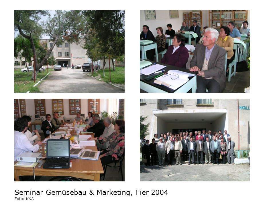 Seminar Gemüsebau & Marketing, Fier 2004 Foto: KKA