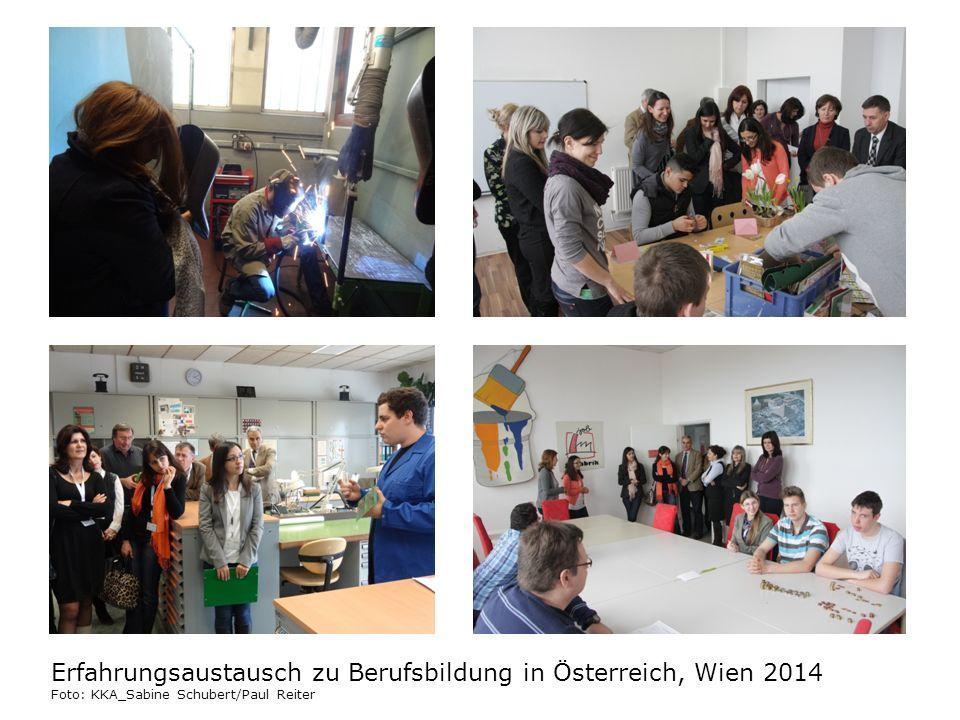 Erfahrungsaustausch zu Berufsbildung in Österreich, Wien 2014 Foto: KKA_Sabine Schubert/Paul Reiter