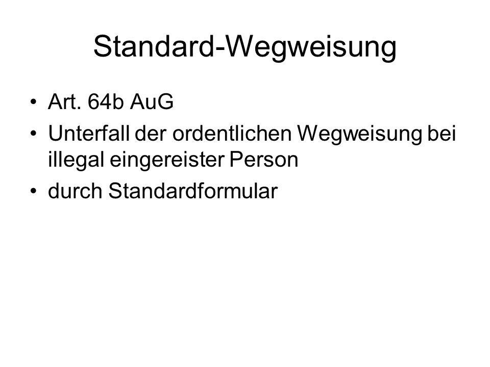 Standard-Wegweisung Art.