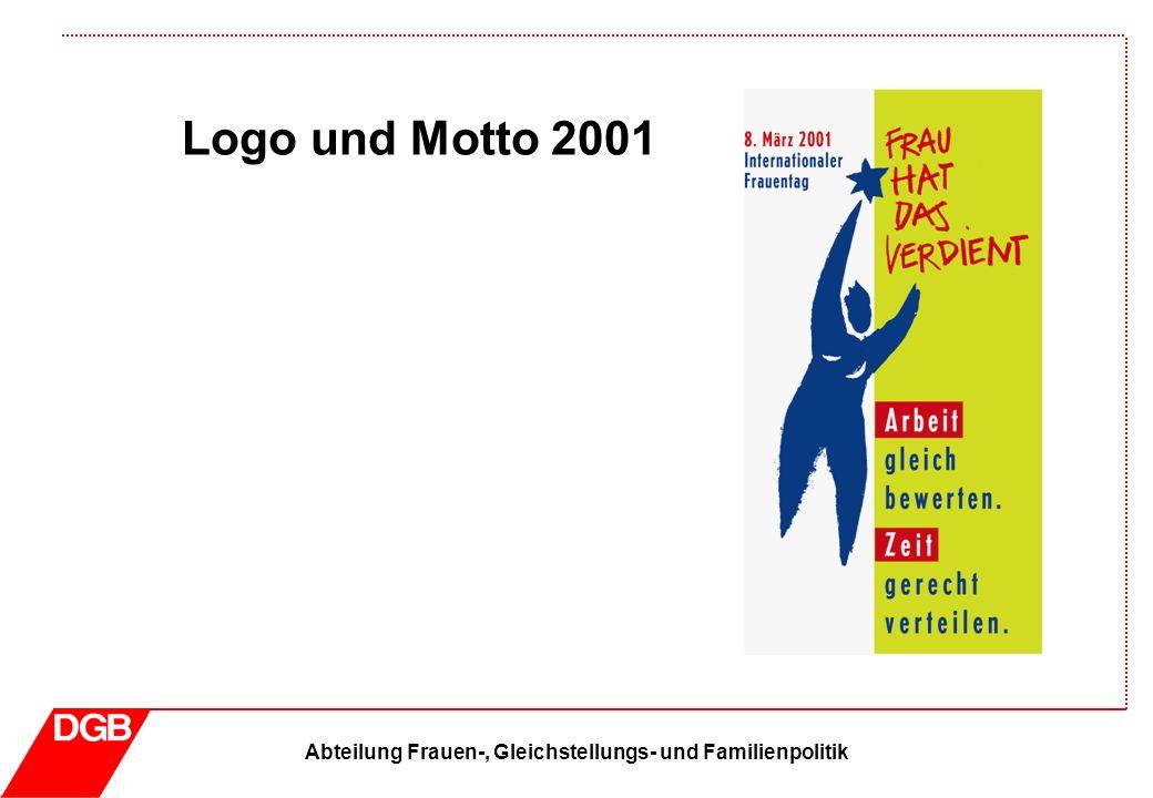 Abteilung Frauen-, Gleichstellungs- und Familienpolitik Logo und Motto 2001