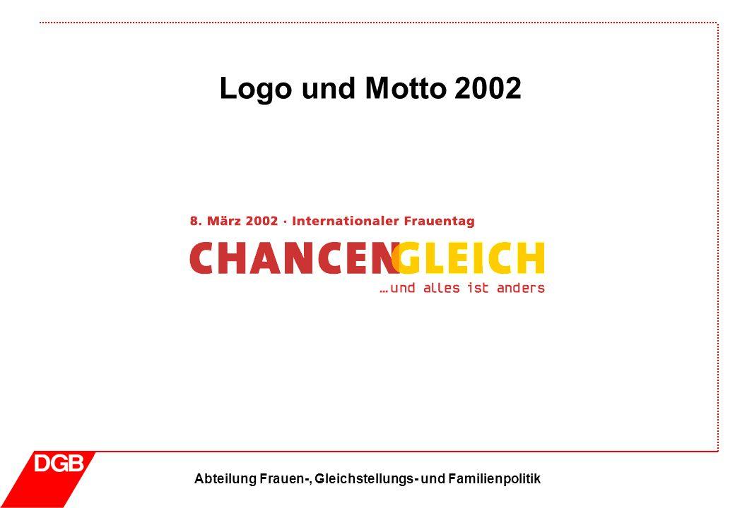 Abteilung Frauen-, Gleichstellungs- und Familienpolitik Logo und Motto 2002